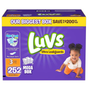 Luvs Ultra Leakguards Nappies, Size 6, 160 Count