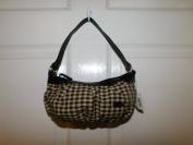 Longaberger Khaki Cheque Fabric Girls Bag Purse
