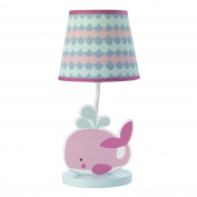 Bedtime Originals Sugar Reef Lamp with Shade & Bulb, Pink/Blue