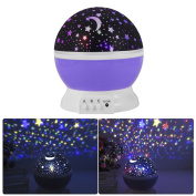 Baby Night Light Moon Star Projector 360 Degree Rotation,Romantic Starry Night Light Lamp Projection for Women Children Kids Bedroom Decor