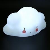 Night Lamp Mini Cloud For Children 12v Led Bulbs Environmentally Friendly Materials, Viny 17.5 X 10 9.5cm