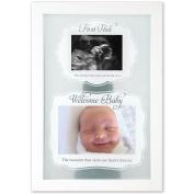 First Peek Wooden Two Image 23cm x 30cm Sonogram Frame - Tabletop or Wall Mount