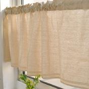 Modern Cotton Lace Rod Pocket Window Valances for Home Decor 130cm x 41cm