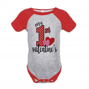 Custom Party Shop Girl's My 1st Valentine's Onepiece