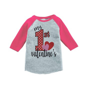 Custom Party Shop Girl's My 1st Valentine's T-shirt