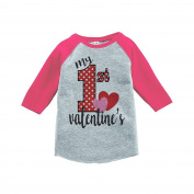 Custom Party Shop Girl's My 1st Valentine's T-shirt