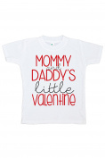 Custom Party Shop Girl's Little Valentine Happy Valentine's Day T-shirt