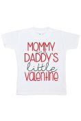 Custom Party Shop Girl's Little Valentine Happy Valentine's Day T-shirt