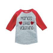 Custom Party Shop Girl's Mama's Little Valentine's Day Red Raglan