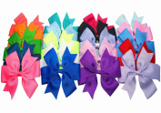Big Elephant 20pcs Large Women Kids Girls 13cm Ribbon Hair Bows Clips Be050