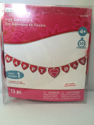 Valentines Day Felt Banner Kit