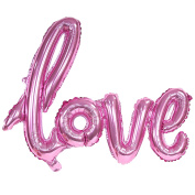 80cm Light Pink 'LOVE' hand written style LETTER FOIL BALLOON