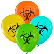 Biohazard Symbol Balloons (16 pcs) by Nerdy Words
