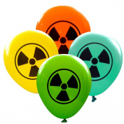 Radioactive Symbol Balloons (16 pcs) by Nerdy Words