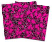 WraptorSkinz Vinyl Craft Cutter Designer 12x12 Sheets Scattered Skulls Hot Pink - 2 Pack