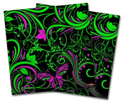 WraptorSkinz Vinyl Craft Cutter Designer 12x12 Sheets Twisted Garden Green and Hot Pink - 2 Pack