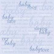 12x12 Scrapbook Paper BOY Definitions - 4 Sheets