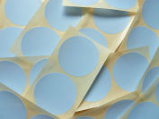 50mm (2 inch) Round Circular Pale Sky Blue Colour Code Stickers, 50 Self-Adhesive Circular Sticky Coloured Labels