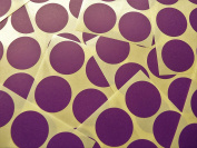 33mm (1.3 inch) Round Circular Dark Purple Violet Colour Code Stickers, 90 Self-Adhesive Circular Sticky Coloured Labels