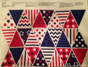 PATRIOT DAY Flags Bunting Cotton Fabric Panel - Officially Licenced (Great for Quilting, Sewing, Craft Projects, a Quilt, Throw Pillows & More) 90cm x 110cm Wide