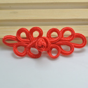 Lyracces Sewing Fasteners knotting leaf DIY Fabric polyester Chinese decorative knots Cheongsam Frogging Button 10pair