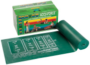 CanDo 10-5913 AccuForce Exercise Band, 6 yd Roll, Green-Medium