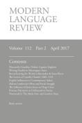 Modern Language Review (112