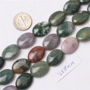 Sweet & Happy Girl'S Store 13X18mm Oval Gemstone Indian Agate Beads Strand 38cm Jewellery Making Beads