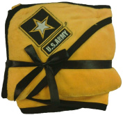 U.S. Army Baby Soft Fleece Blanket with Embroidered Logo - Yellow