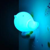 NetBoat Cute LED Intelligent Bird Night Light with Light Sensor Control, Jungle Bird Toddler Wall Light for Children/Kids/Baby