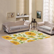 JC-Dress Area Rug Cover Sunflowers Modern Carpet Cover 2.1mx0.9m