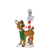 Pre-Lit 2-D Rudolph the Red-Nosed Reindeer North Pole Christmas Yard Art