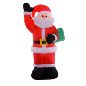 2.4m Airblown Inflatable Christmas Santa Claus Bag Decor outdoor:New by WW shop