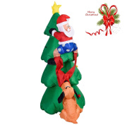 1.8m Airblown Inflatable Christmas Tree Santa Decor Lighted Outdoor(Green):New by WW shop