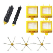 VacuumPal Hepa Filters & Bristle Brush & Flexible Beater Brush & 6-Armed Side Brush Replacement Parts Pack Kit for iRobot Roomba 700 Series 760 770 780