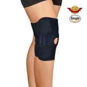 CFORWARD Knee Brace Support ideal for Arthritis, ACL, Running, Training, Sports, Strains & Knee Injuries - Comfortable Open Patella - Adjustable Premium Breathable Neoprene