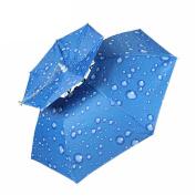 Fishing Umbrella Cap , HLHome Double-Deck Windproof Head Mounted Umbrella Folding Fishing Umbrella Umbrella Hat Sun Hat