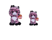 Ty Beanie Boos New Set of 2 Zoey the Zebra Plush Toys. Includes Regular and Small Sizes! by Ty Beanie Boos