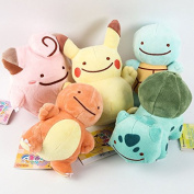 Pokemon Pikachu Charmander Squirtle Bulbasaur Clefairy Ditto Metamon Plush Toy 5 by Debbi Top SHOP