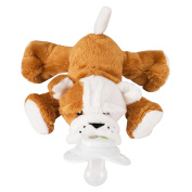 Nookums Paci-Plushies Barkley Bull Dog - Universal Pacifier Holder