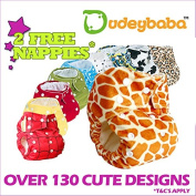 Dudeybaba Reusable Nappy with Choice of Bamboo or Microfibre Insert