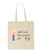 Until All The Pieces Fit Autism Awareness Character B2 Boy With Blonde Hair Tote Bag