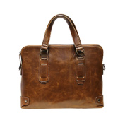 Tidog Crazy Horse Leather Bag Tote briefcase cross business bag