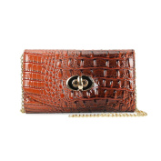 LADIES WOMENS GIRLS TAN CROCODILE STYLE EVENING PARTY CLUTCH CROSS BODY SHOULDER BAGS PURSE THREE IN ONE iPHONE CASE