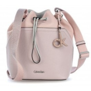 Calvin Klein Jeans Women's No4h Bucketbag Shoulder Bag, Pink (Frappe/Soft Pink), 14 x19 x23 cm