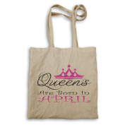 Queens are born in April Novelty Tote bag r19r