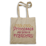 Princesses are born in February Novelty Tote bag s90r
