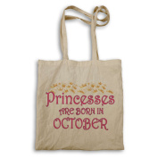 Princesses are born in October Novelty Tote bag s98r