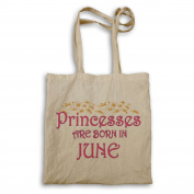 Princesses are born in June Novelty Tote bag s94r