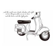 Winhappyhome Motorcycle Pattern Wall Stickers for Kids Room Living Room Removable Decor Decals